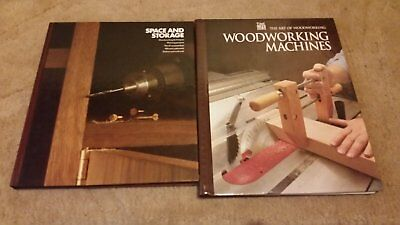 2 woodworking Books - SPACE AND STORAGE - WOODWORKING MACHINES  -  Woodworking