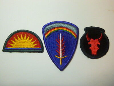 A   Lot of Three U S Army  Merrowed Edge  Patches # A-8