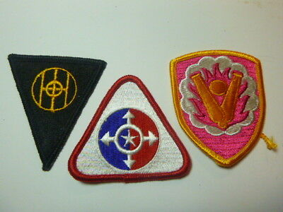 A   Lot of Three U S Army  Merrowed Edge  Patches # A-14