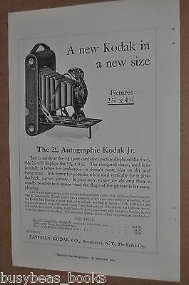 1916 Kodak advertisement for KODAK 2C Autographic Kodak Jr. camera