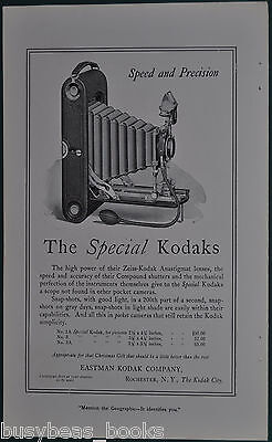 1914 KODAK advertisement, Kodak 1A, 3, 3A folding cameras