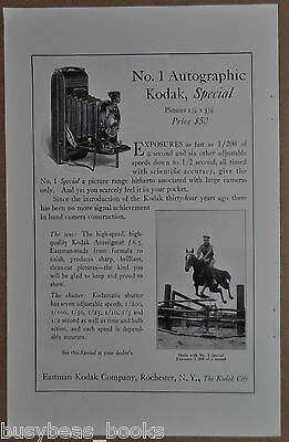 1922 KODAK advertisement, No. 1 Autographic Kodak Special, folding camera