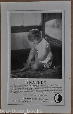 1922 GRAFLEX Camera Advertisement, Eastman Kodak, young girl, stockings