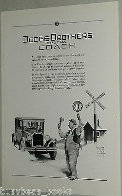 1925 Dodge Brothers advertisement, Special Coupe, Railroad Crossing