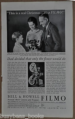 1932 Bell & Howell FILMO advertisement, D-70 movie camera, Christmas present
