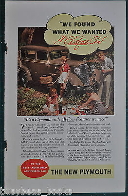 1934 Plymouth advertisement, PLYMOUTH DELUXE sedan color photo