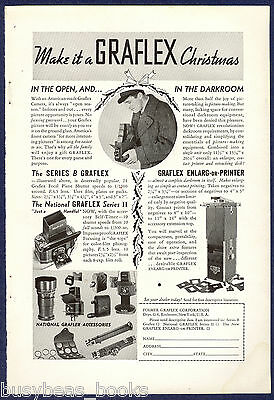 1935 GRAFLEX CAMERA advertisement, National Graflex Series B Graflex accessories