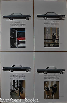 1963 BUICK ELECTRA advertisements x4, Buick Electra 225, taillight, businessman