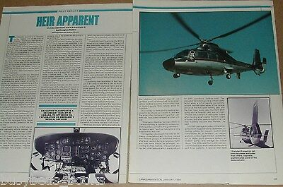 1984 magazine article, flying the Dauphin 2 helicopter, pilots report