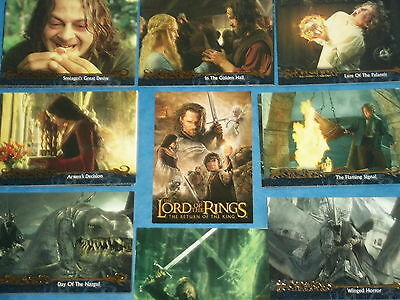 The Lord Of The Rings 'THE RETURN OF THE KING' Update  Base Set Of Trading Cards