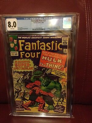Fantastic Four #25 CGC 8.0 with WHITE PAGES