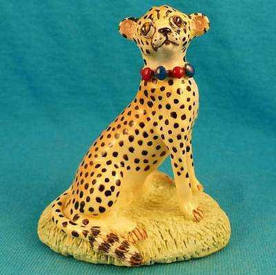 Basil Matthews African cheetah big cat England pottery signed old vintage figure