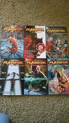 World of Flashpoint  (Lot of 6 Books) Excellent condition TPB TRADE COMICS SEE