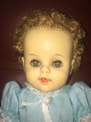 "Vintage 15"" Drink And Wet Baby Doll Unmarked Betsy Wetsy Era"