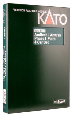 Kato 106-8011 N Amfleet I Phase I Bookcase Set (4)