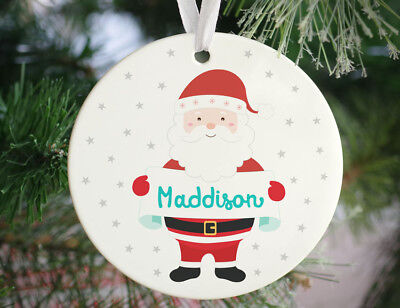 Personalised Jolly Santa Christmas Ornament - Tree Decoration