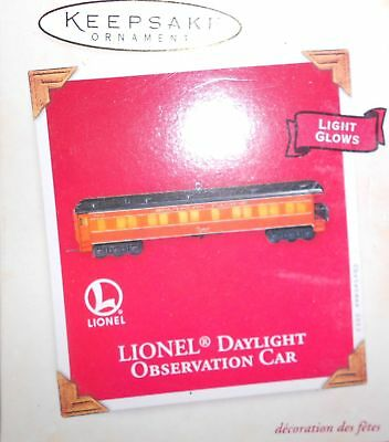 Hallmark QXI8327 Lionel Southern Pacific Daylight Observation Car Christmas Tree
