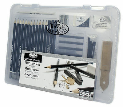 Other Art Supplies Splendida Valigetta Professionale Per Disegno Royal & Langnickel 134 Pz Nuova Art Supplies