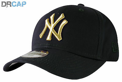 New Era KIDS INFANT NY Yankees Golden 9Forty Navy / Gold Baseball Caps 48 - 50cm