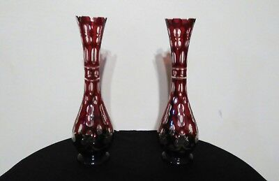 Antique Bohemian glass vases