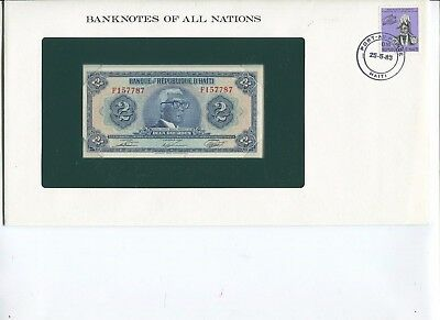 Haiti 2 Gourdes Note Crisp UNC  Banknotes of All Nations Limited Edition