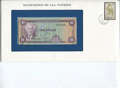 Jamaica One Dollar Note Crisp UNC  Banknotes of All Nations