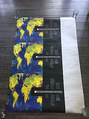 "Depeche Mode 'World Violation' 1990 Wall Poster 40"" x 60"" (Rare/Limited/Test?)"