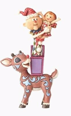 Jim Shore Rudolph Traditions~Rudolph With Misfits~Jack N Box~Christmas~4058341
