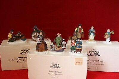 Dept.56 Dickens Village Series LOT OF 3 Accessories 8 Pieces With Boxes