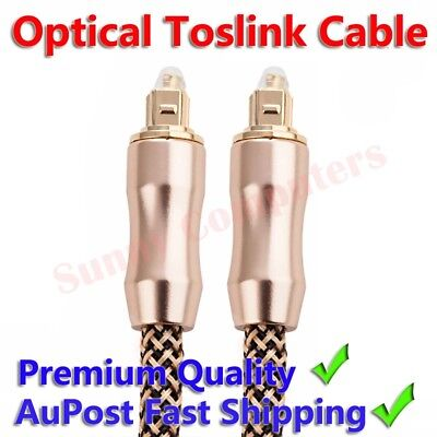 Premium Gold Plated Toslink Optical Cable 5M 3M 2M M/M Lead Digital Audio 7.1 AU