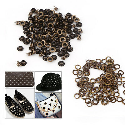 100pcs 4/5/6MM Metal Eyelets Small Grommets Washers for Leather Craft DIY Sewing