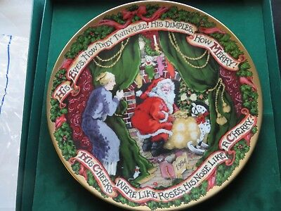 FITZ & FLOYD NIGHT BEFORE CHRISTMAS 1994 Annual Christmas Plate New in Box