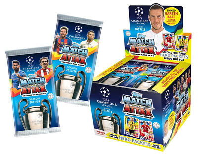 2017 2018 Topps UEFA Champions League Soccer Match Attax Box 60 x Booster Packs
