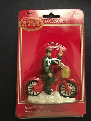 Dickens Collectables Accessories Delivery Man on Bike