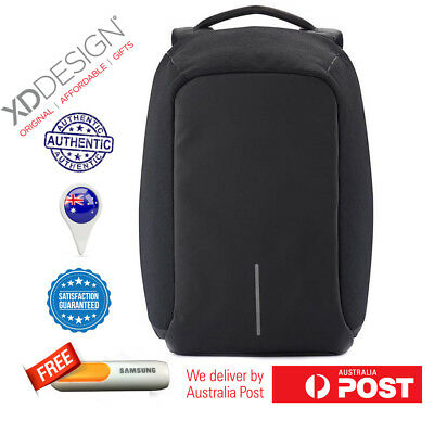 Authentic Bobby Black Anti Theft Backpack by XD-Design Free Power Bank Limited