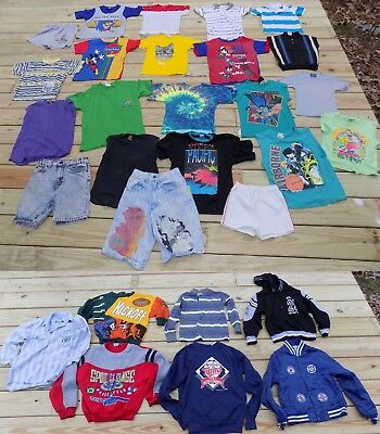 VTG 1980s 1990s HUGE LOT Boy's Clothes Youth Size 4-10 Small to Large Used