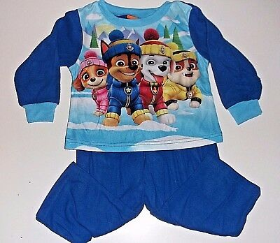 New Paw Patrol flannel pajamas boys toddler sizes 2T 3T 4T 5T