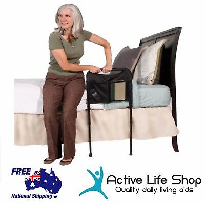 Able Life Bedside Sturdy Rail Support Handle Stabiliser Prevent Fall Compact