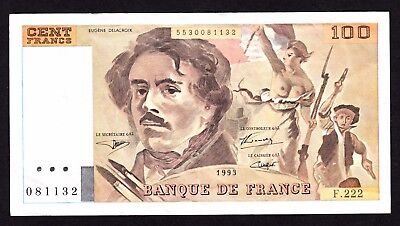 France  100 Francs 1993 VF Note P. 154g