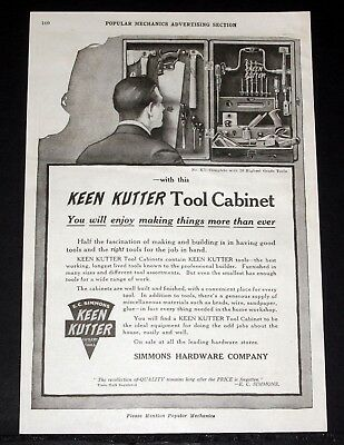 1919 Old Magazine Print Ad, Keen Kutter Tool Cabinet, Enjoy Making Things More!