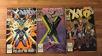 The Uncanny X-Men #250, 251, 252 (Marvel 1981) Claremont ~Lot of 3~ See My Store