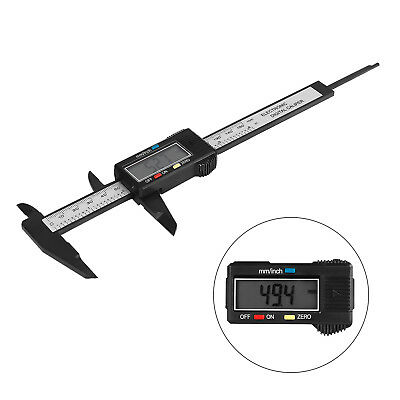 "150MM 6"" LCD Digital Electronic Carbon Fiber Vernier Caliper Gauge Micrometer ❤S"