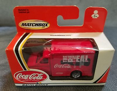 Coca Cola Coke 2002 Matchbox Red Delivery Truck, Mattel Wheels, new in box