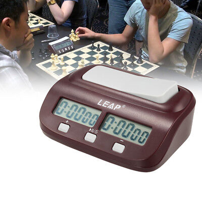 LEAP PQ9907S Digital Chess Clock  Count Up Down Timer for Game Competition Clock