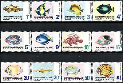 Christmas Island 1968 Fish set of 12 MNH