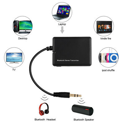 Bluetooth Sender Audio USB 3.5mm Transmitter Adapter Für TV PC ipod Kopfhörer ..