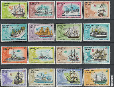 Christmas Island 1972 Ships set of 12 MNH