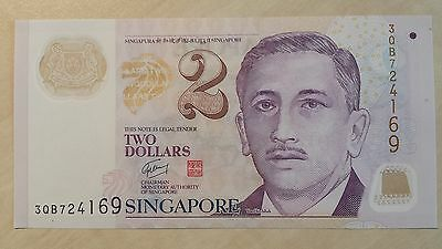 SINGAPORE $2 Dollars ND 2005 P46c 'Education' 2 squares UNC Banknote