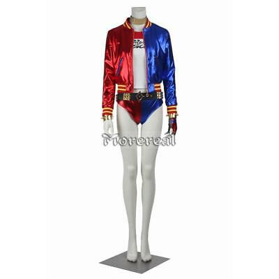Suicide Squad Costume Harley Quinn Cosplay Fancy Suit Sexy Full Set Halloween