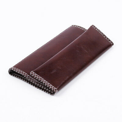 Brown PU Leather Cigarette Tobacco Pouch Bag Case Rolling Paper Christmas Gift